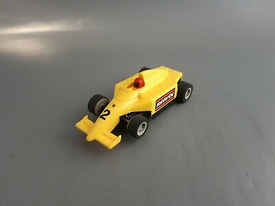 Micro Scalextric Yellow Repsol Number 2 F1 Car Working 1:64 Free Postage • 11£