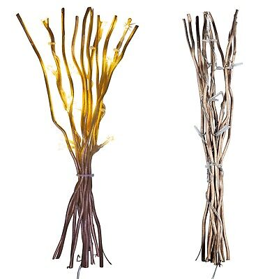 10 Rose Gold LED Willow Branches Twigs Warm LED Lights Home Festive Christmas • 8.49£