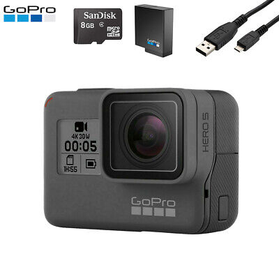 $ CDN264.07 • Buy GoPro Hero 5 Black Edition 4K HD Action Camera + USB Charger + SD Card + Battery