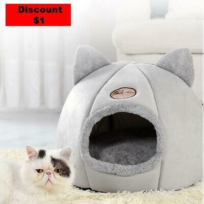 £18.88 • Buy Upholstered Bed For Cats And Small Dogs A Heated And Covered Cave Bed