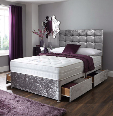 £349.99 • Buy Brand New Berlin Ortho Spring Divan Bed Set With Mattress Headboard