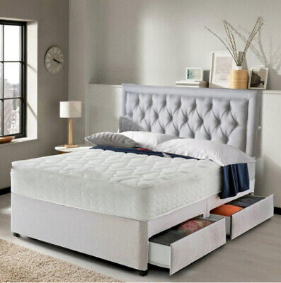 £259.99 • Buy Stunning Raquel Ortho Spring Divan Bed Set With Mattress Headboard