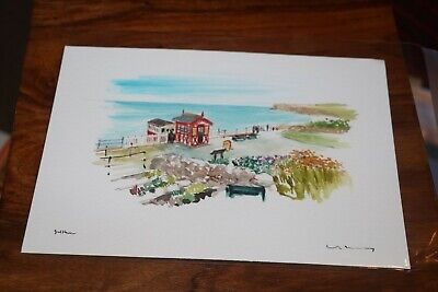 David Kearney Watercolour/Pen Saltburn By The Sea (A5 Unmounted) SALE! • 10£