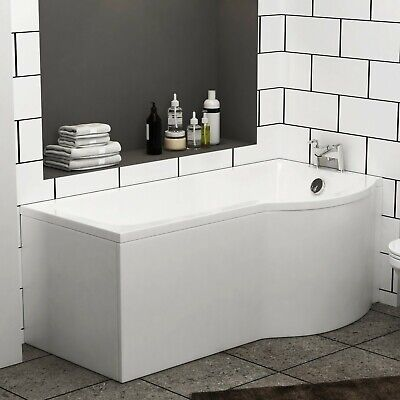 Abacus 1600 X 850mm Shower Bath Tub With Leg Set  P-Shaped Right Hand • 78.99£