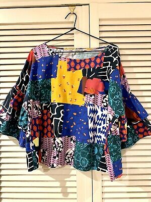 "AU89.90 • Buy Pretty GORMAN  Patchwork"" Shirt Top * Size 14"