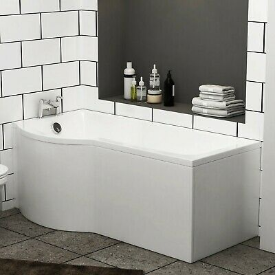 Abacus 1700 X 850mm  Bath Tub With Leg Set P-Shaped Left Hand Shower • 78.99£
