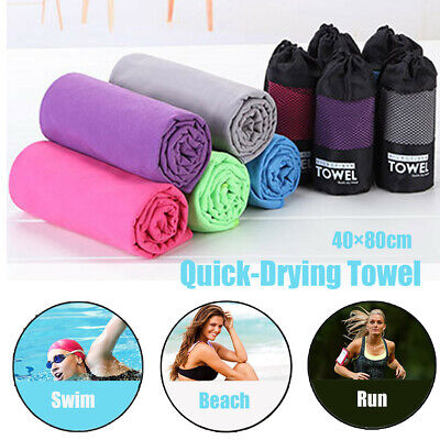 AU13.53 • Buy Deluxe Microfiber Travel Towel Sport Beach Towels Ultra Absorbent & Quick Dry
