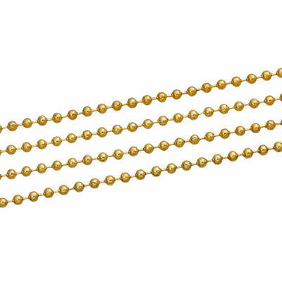 £4.09 • Buy 10 Metres Ball Chain Dog Tag - 2.4mm - Gold Plated - Jewellery Making - J75473
