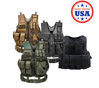 $39.99 • Buy Military Army Tactical Vest Gun Holder Molle Combat Assault Police Hunting Gear