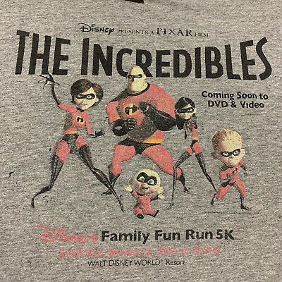The Incredibles T Shirt XL Men's 2004 Disney Movie Promo Poster Vintage Pixar • 495.82£