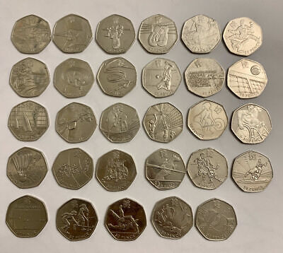 Various UK British 50 Pence Coins -  2012 OLYMPICS - Peter Rabbit - Paddington • 2£