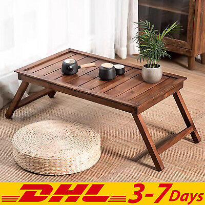 Wooden Japanese Folding Table Office Desk Handmade Vintage Home Decor Rectangle • 179.15£