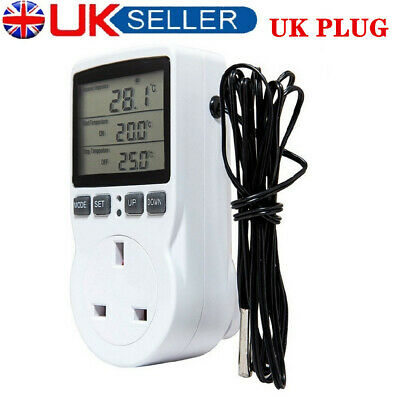£14.39 • Buy Digital LCD Sockets Thermostat Plug Switch Sockets Temperature Controller UK