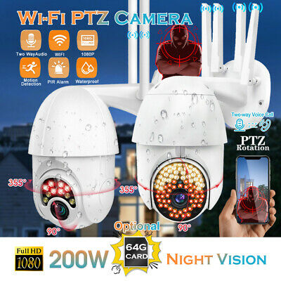 1080P WIFI 360° IP Camera Wireless HD CCTV PTZ Smart Home Outdoor Security Cam • 34.89£