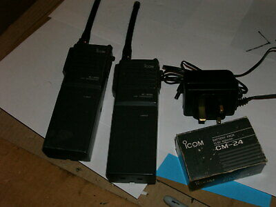 2 No. Icom IC-H10 Hand Held VHF Transceivers & Charger • 15£