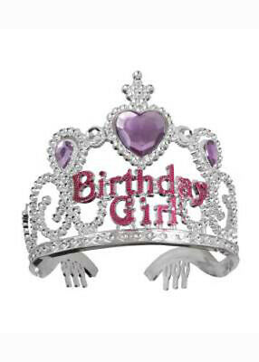 £5.45 • Buy Childrens Pink And Silver Birthday Girl Tiara
