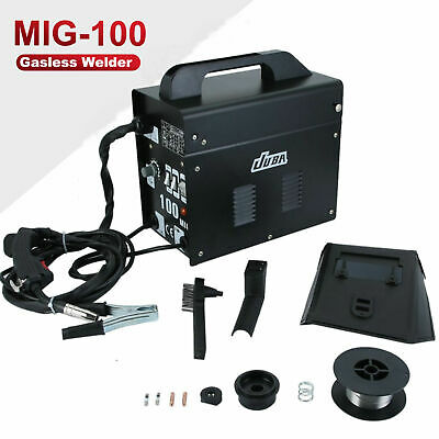 Portable Welder MIG 100 No Gas Auto Wire Feed 240V Welding Machine Electric GH • 83.69£