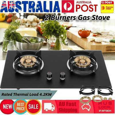AU169.98 • Buy Portable Kitchen Gas Stove Burner Butane Gas Cooker 2 Burners Cooking Supplies