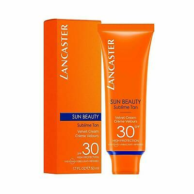Lancaster Sun Beauty Velvet Touch Cream Sublime Tan For Face SPF30 50ml • 12.99£
