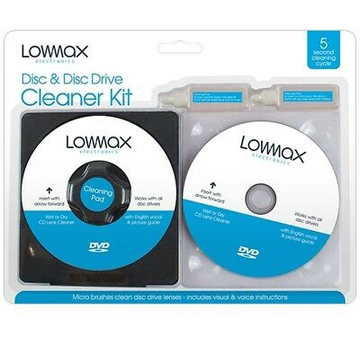 £2.99 • Buy 4 Pc Laser Lens Cleaner Cleaning Kit For PS3 XBOX 360 BLU RAY DVD PLAYER CD DISC