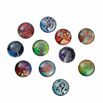 10 Tree Of Life Round Cabochons - Glass Dome Sealed - Random Mix - 20mm • 3.09£