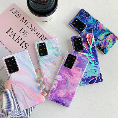 AU9.99 • Buy Case For Samsung A21S S20 FE S20 S21 Ultra Marble Shockproof Protective Cover