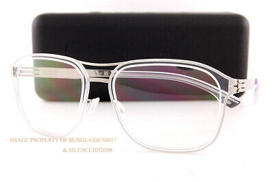 Brand New Ic! Berlin Eyeglass Frames Pablo L. Chrome-Crystal-Clear For Men Women • 219.88£