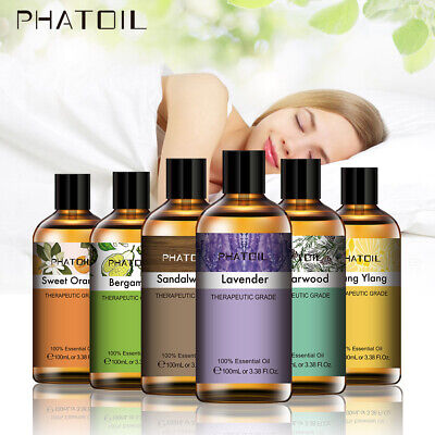 AU23.75 • Buy PHATOIL 100ml Essential Oils Pure Natural Aromatherapy Diffuser Oil With Dropper