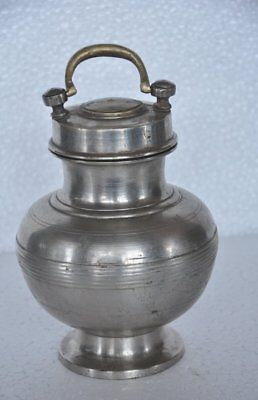 £28.84 • Buy Old Brass Fine Nickel Plated Unique Holy Water Pot , Rich Patina