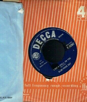 Alan Price Set I Put A Spell On You 45 Decca Records 1966 • 0.75£