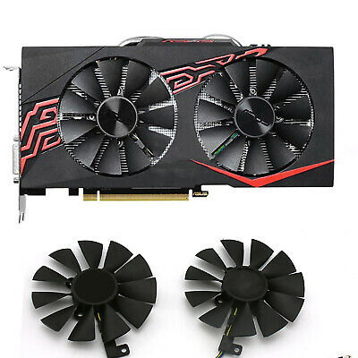 AU15.57 • Buy For ASUS GTX 1060-O6G-GAMING Graphic Card Cooling Fan Cooler Replace Parts Black
