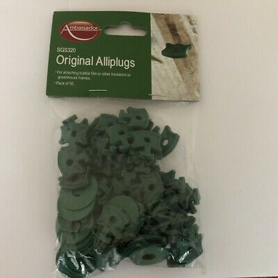 Greenhouse Alliplug Bubble Wrap/Shading Attaching Plugs With Washers Pack Of 50 • 4£