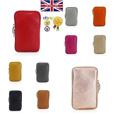 New Women's Genuine Leather Mini Shoulder Bag/Mobile Phone Pouch With Long Strap • 10.99£