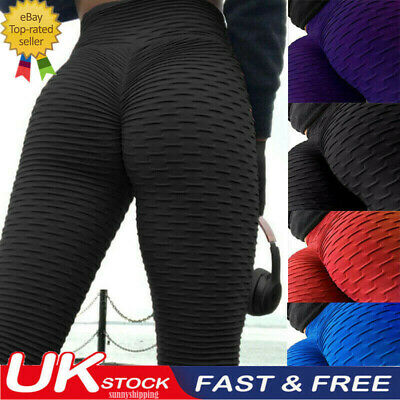 Women Anti-Cellulite High Waist Yoga Gym Leggings Elastic Fitness Trouser Pants • 7.58£