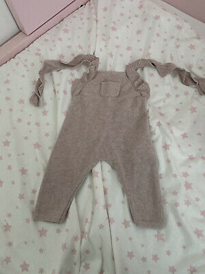 Baby Girls Zara Knitted Dungarees - Age 3-6 Months  • 4£