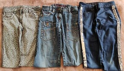 £9.95 • Buy ~ Next Small Bundle ~ Age10 Years ~ X3 Pair Girls Jeans 1 Slouch, 2 Slim Fit VGC