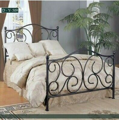 $ CDN697.79 • Buy Twin Full Queen Metal Bed Frame Iron Foundation Headboard Footboard Bedroom