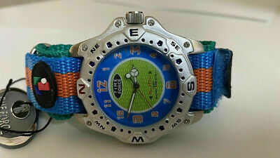 £52.74 • Buy Unisex Time Force 9000-01 Surf Italian Design  Multicolor GREEN - BLUE Watch NEW