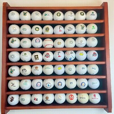 Nice Golf Ball Display Case With 56 Logo Balls Included • 17.87£