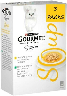 Gourmet Crystal Soup Chicken Variety Cat Wet Food 12 X 40 G • 14.95£