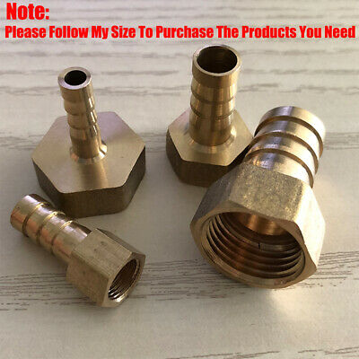 £5.12 • Buy BSP 1/2 -3/4  Brass Female Barb Hose Tail Fitting Air Fuel Gas Water Hose Oil