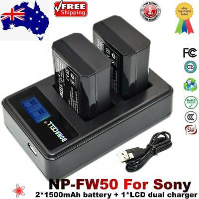AU28.99 • Buy NP-FW50 Battery+ Dual Charger For Sony Alpha A3000 A3500 A6000 A6300 A6400 A6500