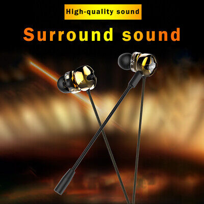3.5mm Gaming In-Ear Stereo Headset Headphone Mic Earphone For Switch PS4 Laptop • 13.37£