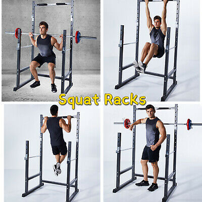 $ CDN268.08 • Buy Half Frame Squat Rack Stand Barbell Rack Stand Weight Lifting Pull Up Bar Gym