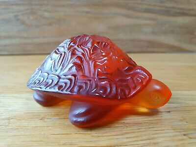 Lalique Glass Sidonie Turtle Amber • 95£
