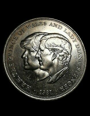 1981 Silver Coin HRH The Prince Of Wales And Lady Diana Spencer • 7.99£