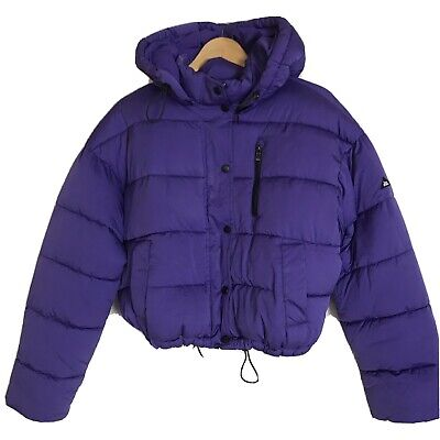 Urban Outfitters Iets Frans Purple Puffa Puffer Jacket (Size M) RRP £65 • 10.49£