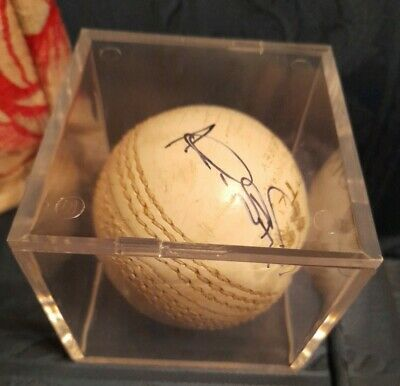 AU44.38 • Buy Alec Stewart Signed White Cricket Ball In Display Cube