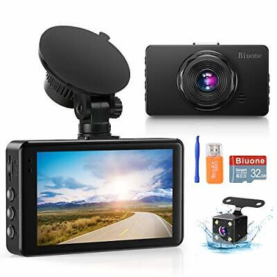 AU80.34 • Buy Dash Camera For Cars Super Night Vision Dash Cam Front And Rear With 32G SD C...