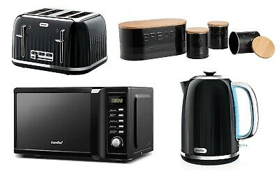 £229.99 • Buy Black Microwave Oven COMFEE' 4 Slice Toaster & Jug Kettle Breville And Storage